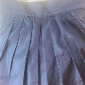 2 Tier Full Black Skirt w/ Large Pleats